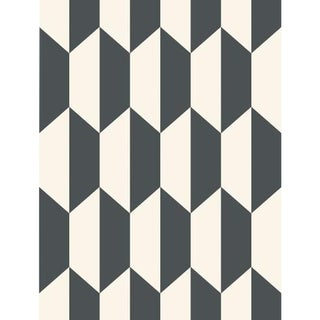 Cole & Son Tile Wallpaper Roll - Black And White For Sale