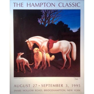 1995 The Hampton Classic Poster By Lynn Curlee For Sale