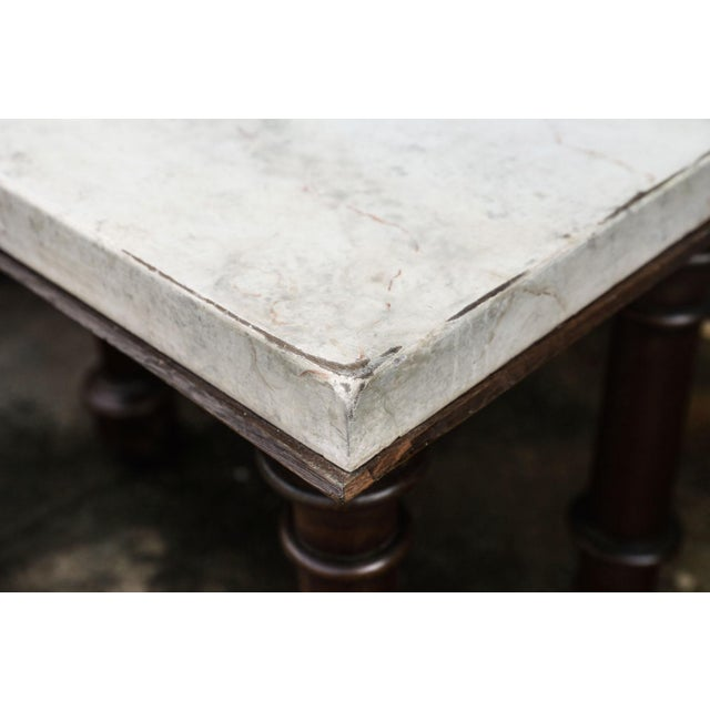 Faux Marble-Top Console For Sale In Houston - Image 6 of 10