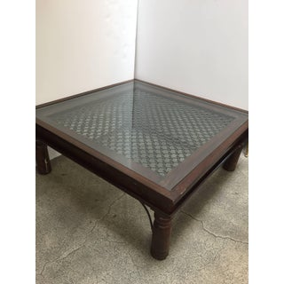20th Century Anglo Indian Wooden Coffee Table With Iron and Glass Preview