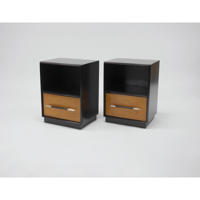 Tulip Collection Nightstands by T.h. Robsjohn-Gibbings for Widdicomb For Sale In Boston - Image 6 of 6