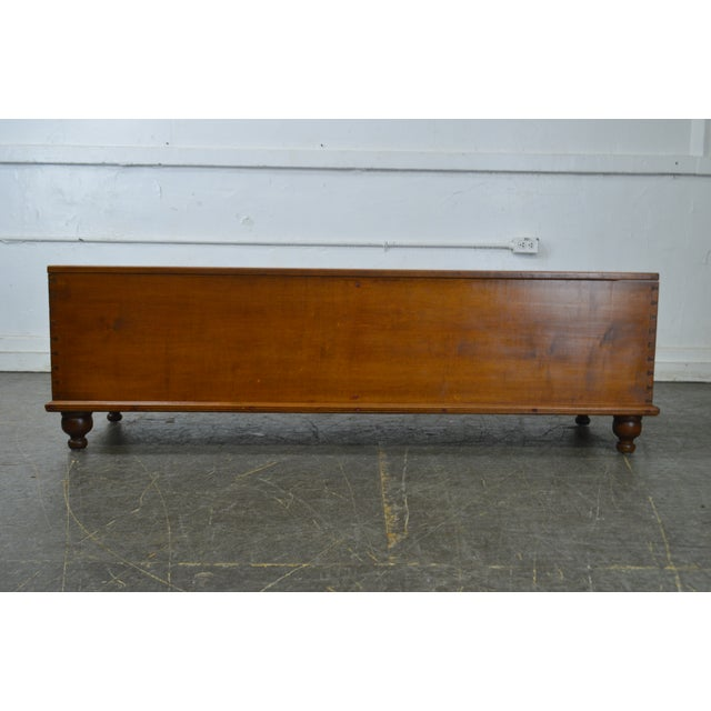 Country Country Antique 19th Century Poplar Dovetailed Lidded Chest Wood Box For Sale - Image 3 of 12