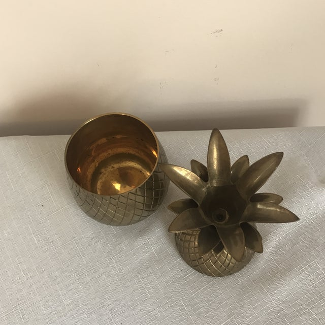 Brass Pineapple Trinket Box For Sale - Image 4 of 5