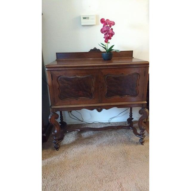 Antique Serpentine Sideboard Buffet - Image 5 of 10