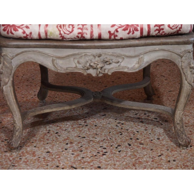 Fabric 18th Century Painted Regence Chair For Sale - Image 7 of 8