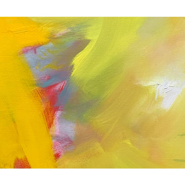"Canvas ""Up and Away"" by Trixie Pitts Large Abstract Diptych Oil Painting For Sale - Image 7 of 13"