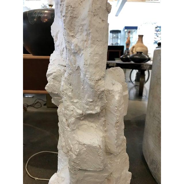 Plaster Rock Floor Lamp For Sale - Image 10 of 12