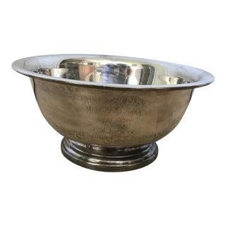 Vintage Sliver Trophy Bowl by Poole Sliver Company For Sale