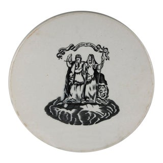 1920s Vintage English Scale Plate For Sale