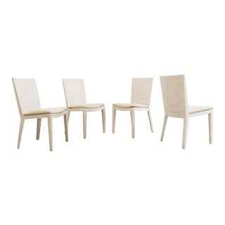 Karl Springer, Matte Parchment Jmf Chairs, Usa, C.1975 For Sale