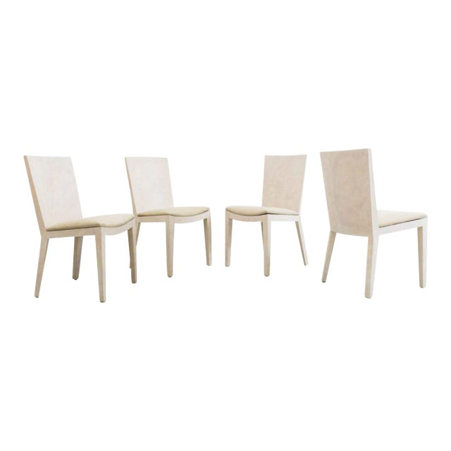 Karl Springer, Matte Parchment Jmf Chairs, Usa, C.1975 For Sale