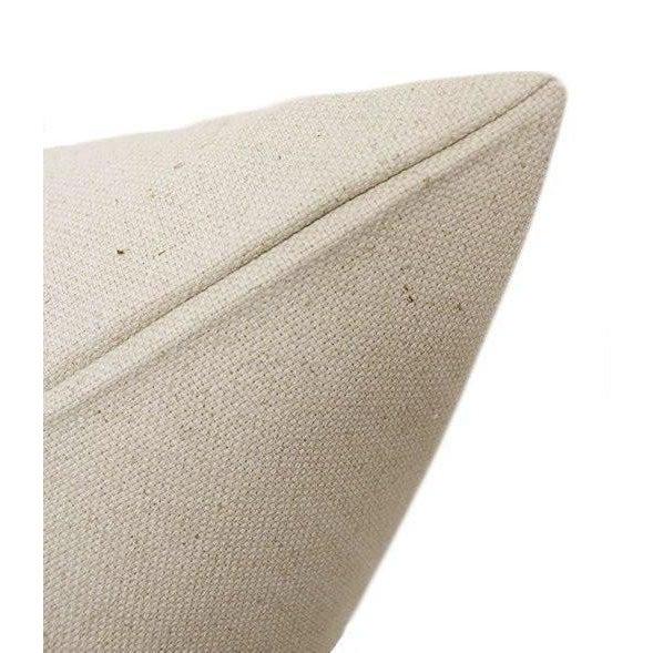 "2010s 22"" Powder Blue Velvet Panel & Linen Pillows - a Pair For Sale - Image 5 of 6"