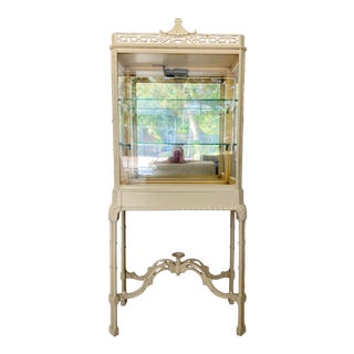 Vintage Chinoiserie Pagoda Display Cabinet For Sale