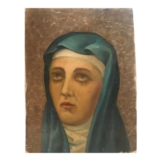 Portrait of the Madonna 19th Century For Sale
