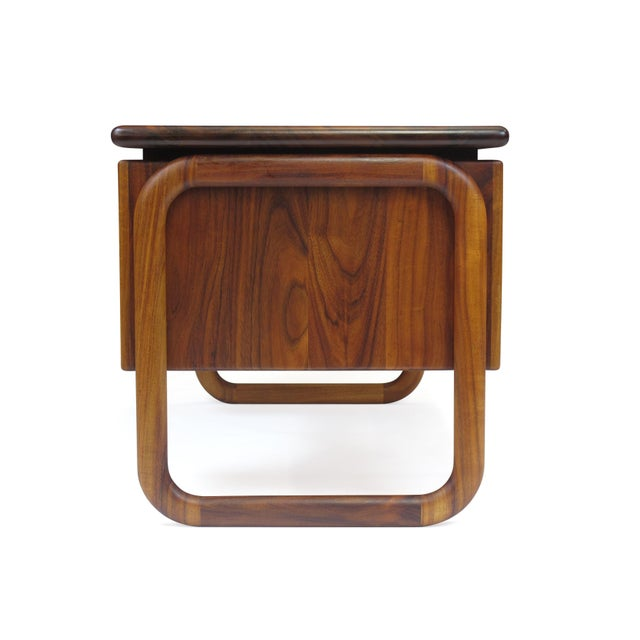 Brown California Studio Handcrafted Koa Desk For Sale - Image 8 of 10