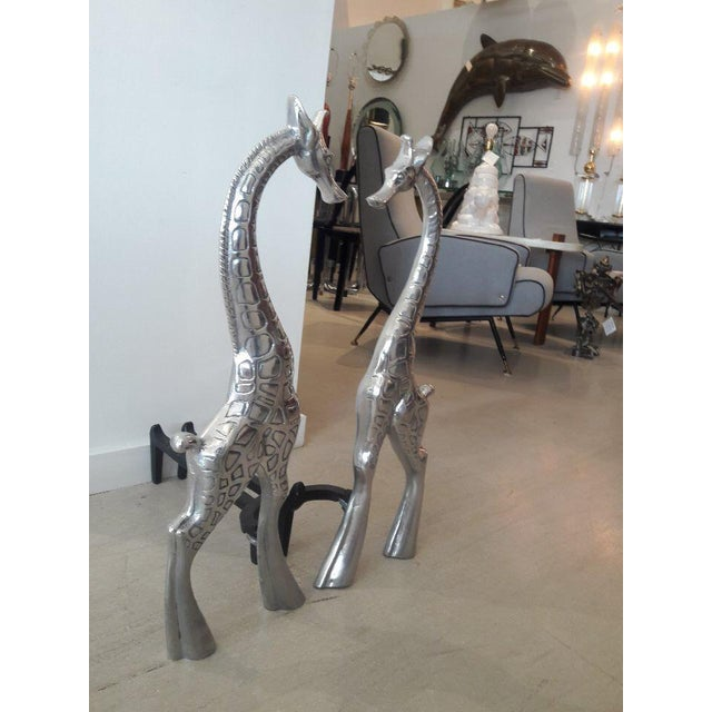 Pair of Giraffe Andirons by Arthur Court For Sale - Image 10 of 11