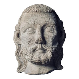 15th Century Italian Medieval Marble Bust of a Man Sculpture For Sale