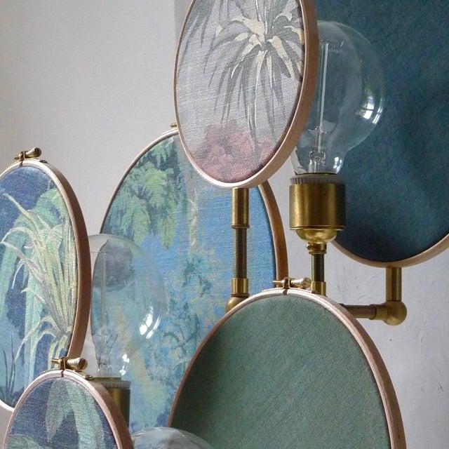Metal Circle Blue Grey, Table Lamp, Sander Bottinga For Sale - Image 7 of 10