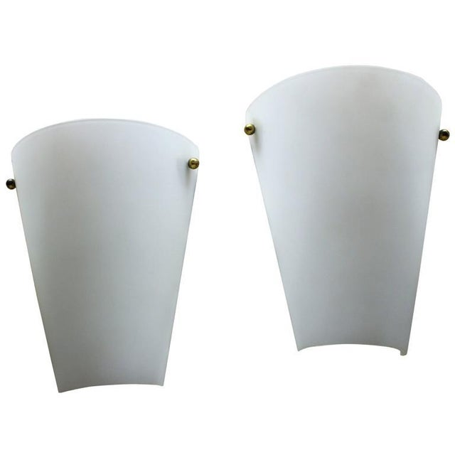 1950s 1950s Wall Sconces in Style of Stilnovo - a Pair For Sale - Image 5 of 5