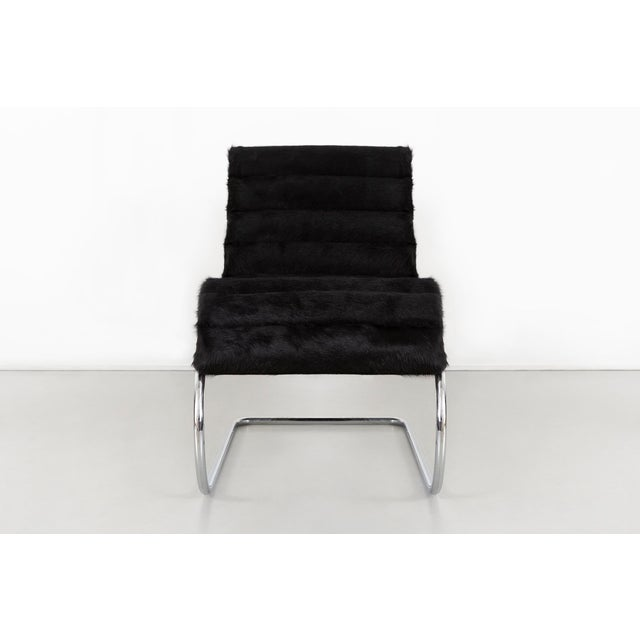 Mies Van Der Rohe Mr Chaise for Knoll Reupholstered in Brazlian Cowhide For Sale In Chicago - Image 6 of 11