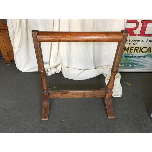 Oak Quilt Rack For Sale In San Francisco - Image 6 of 7