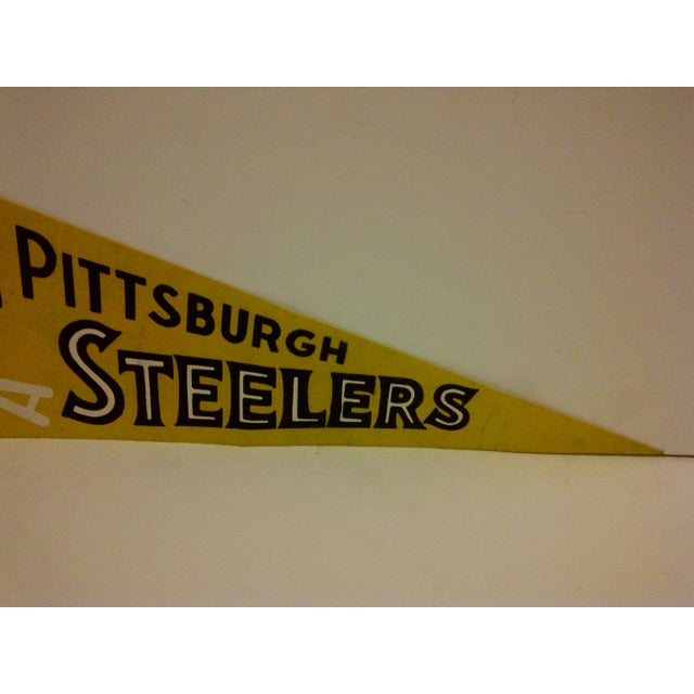 Vintage NFL Pittsburgh Steelers Pennant Flag For Sale - Image 4 of 5