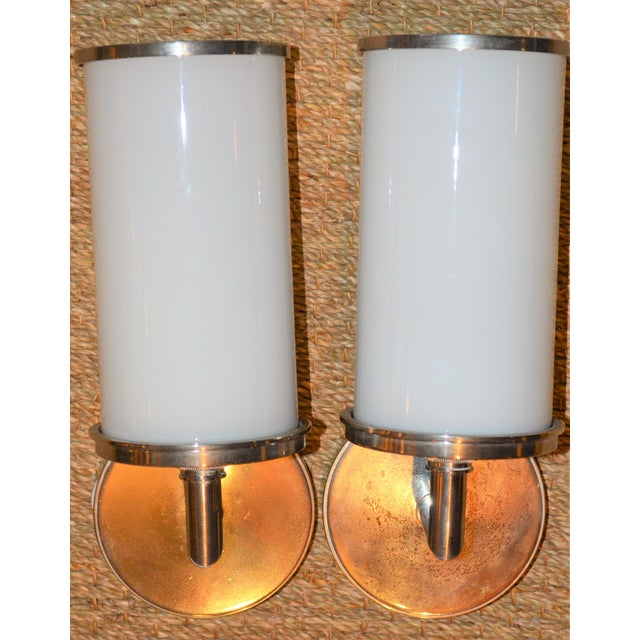 Visual Comfort Studio Cylinder Sconces - a Pair - Image 4 of 10