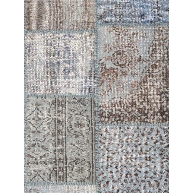 """Vintage Patchwork Wool Rug - 8' 1"""" X 10' - Image 2 of 3"""