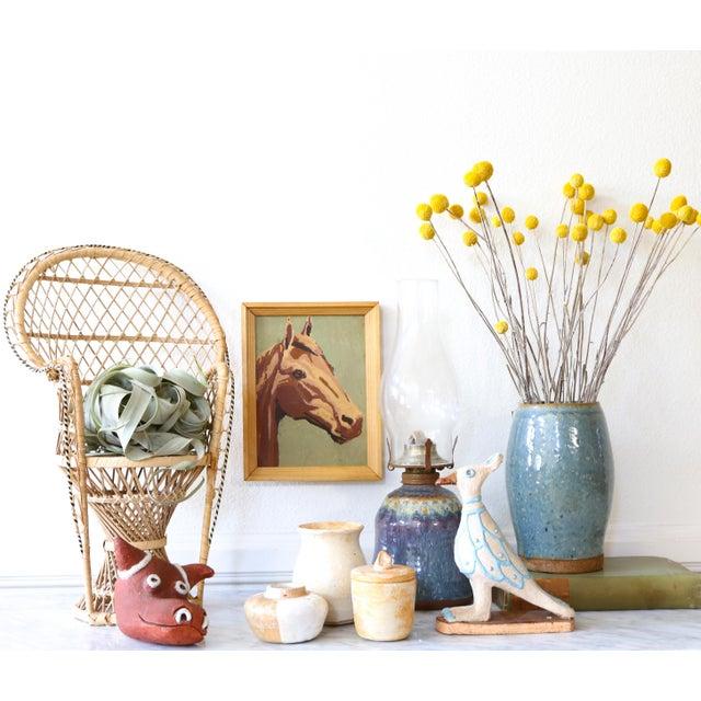 Danish Modern Folk Art Mid-Century Modern Handmade Studio Pottery Bull For Sale - Image 3 of 7