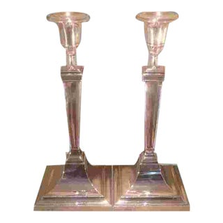 British Sterling Candlesticks Made by Gorham in 1910 For Sale