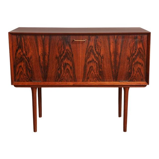 Italian Mid Century Wood Bar/Media Cabinet For Sale