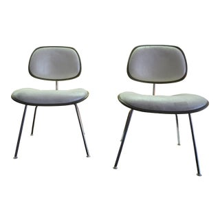 Mid Century Modern Eames for Herman Miller Dcm Side Chairs Newly Upholstered - Pair For Sale