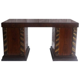 1930s French Art Deco Jacaranda Wood Desk For Sale