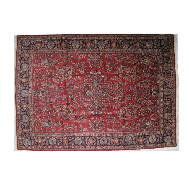 """Leon Banilivi Antique Tabriz Carpet -- 8'10"""" x 12' For Sale"""