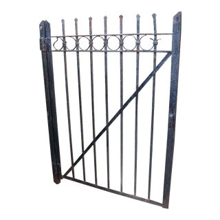 Wrought Iron Gate With Circle Design