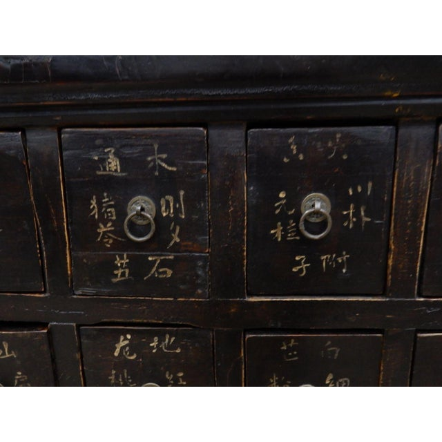 Asian Antique Chinese Elmwood Apothecary Cabinet For Sale - Image 3 of 11