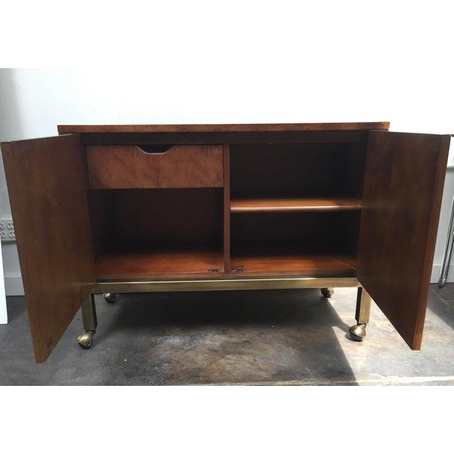 Metal Tomlinson Burl Wood Bar Cart For Sale - Image 7 of 13