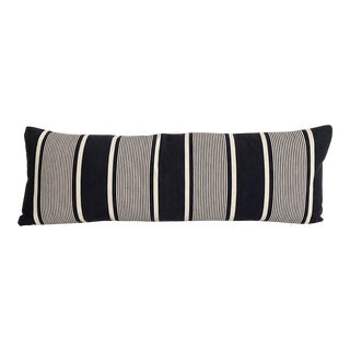 Vintage French Ticking and Linen Body Pillow For Sale