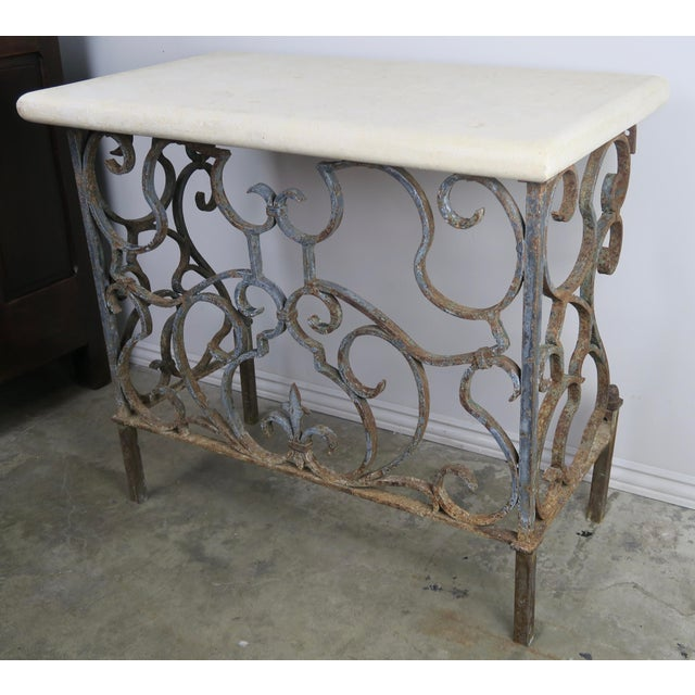 Late 19th Century 19th C. French Wrought Iron Console For Sale - Image 5 of 12