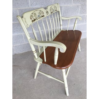 Ethan Allen Hitchcock Style Arrow Back Ivory Decons Bench Preview