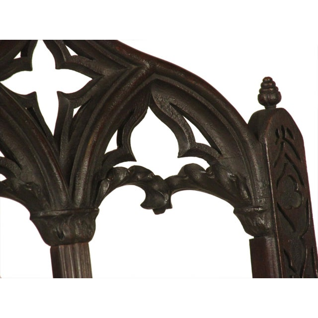 19th Century. Vintage Gothic Dining Chairs - Set of 8 For Sale - Image 10 of 12