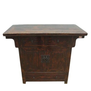 Antique Gansu Chest Cabinet For Sale