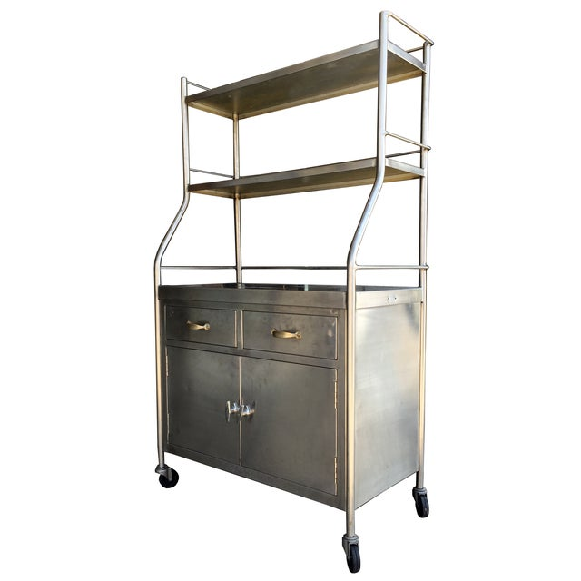 Vintage Stainless Steel Shelving Unit - Image 1 of 4