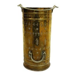 Vintage Stamped Brass Umbrella Stand