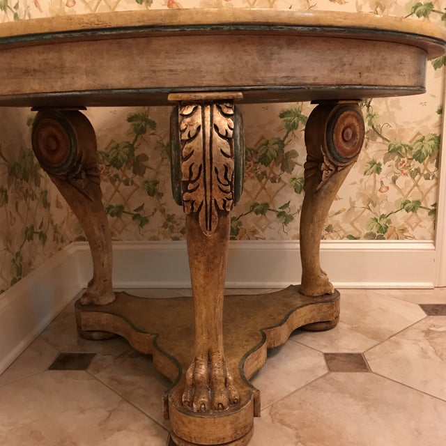 Art Deco Traditional Wooden Center Table For Sale - Image 3 of 8