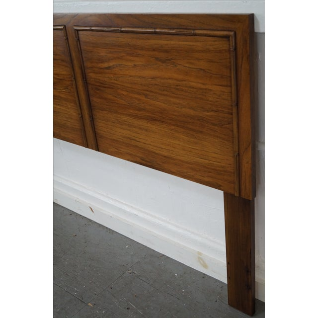 Country Lane Vintage Queen Size Faux Bamboo Headboard For Sale - Image 3 of 10
