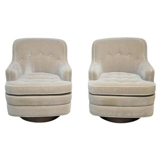 Dunbar Swivel Chairs by Edward Wormley- A Pair For Sale