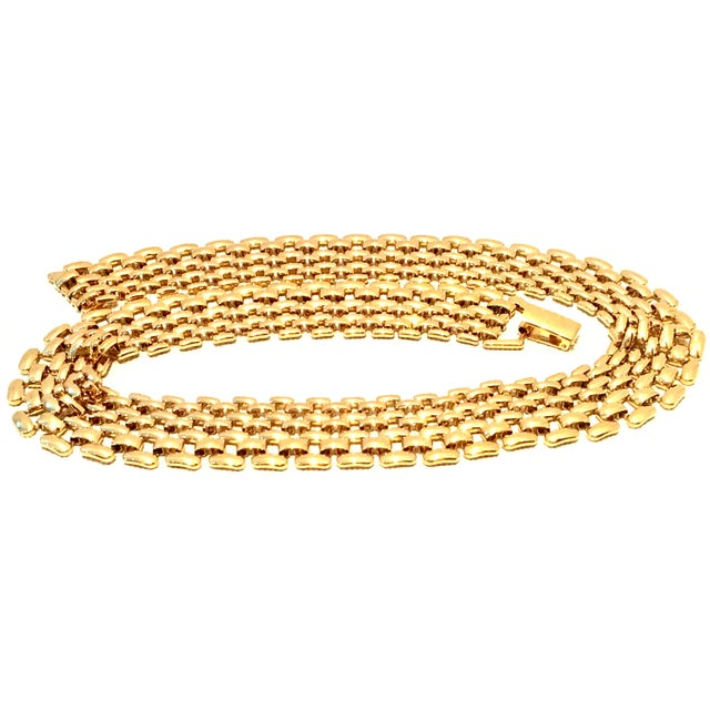 Napier 20th Century Gold Plate Link Choker Style Necklace By, Napier For Sale - Image 4 of 11