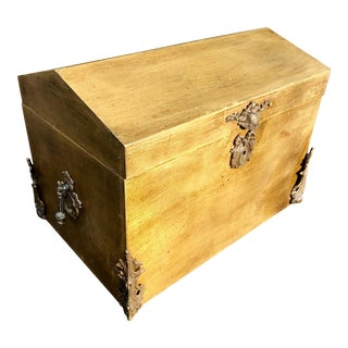 French Style Gilt Wood Chest For Sale