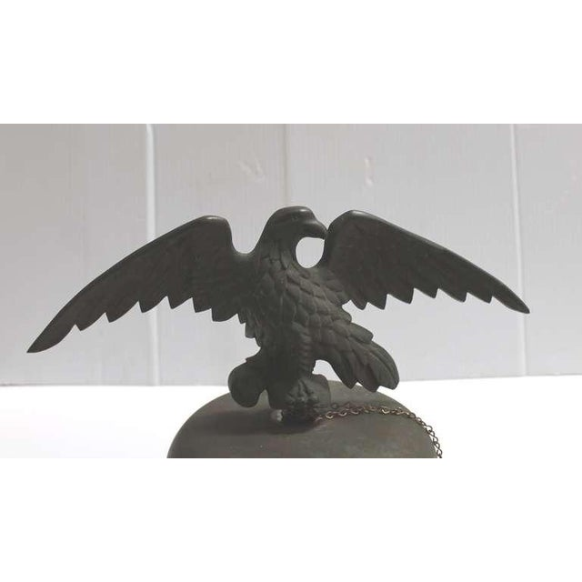 Folk Art 19th Century Large Bell on Iron Base with Bronze Eagle on Top For Sale - Image 3 of 8